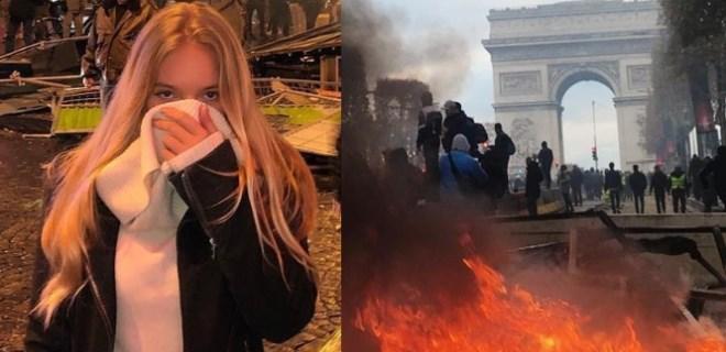 Putin'in sözcüsünün kızı Paris eylemlerinde!