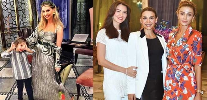 Ünlü güzeller Dubai'deki İstanbul gecesinde buluştu!