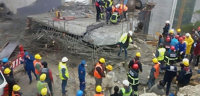 Kuzey Marmara Otoyolu inşaatında beton blok çöktü