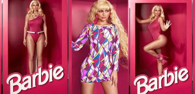 Çakma Barbie kutuya girip poz verdi
