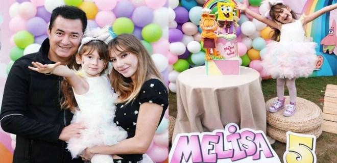 Küçük Melisa'ya renkli doğum günü partisi