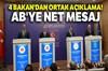 4 Bakan, 5. Reform Eylem Grubu Toplantısı'nda ortak basın açıklaması yaptı.