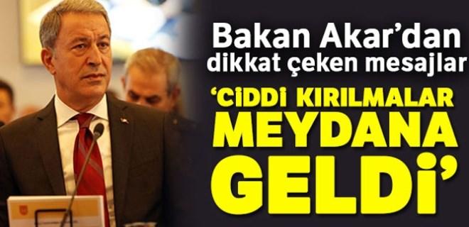 Milli Savunma Bakanı Akar'dan dikkat çeken mesajlar!