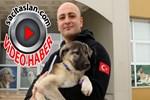 Polis memuru, kurtardığı köpeği sahiplendi