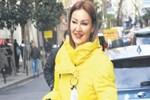 Pınar Altuğ çekinerek poz verdi