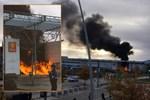 Fransa'da öğrencilerin protestosunda okul yandı!