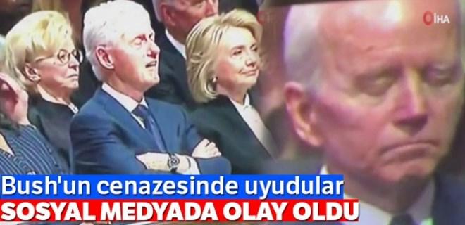 Clinton ve Biden'ın uykusu Twitter'da olay oldu!