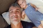 Özcan Deniz'den oğlu Kuzey ile 9'uncu ay pozu
