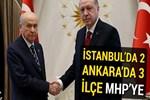 İstanbul'da 2, Ankara'da 3 ilçe MHP'ye!