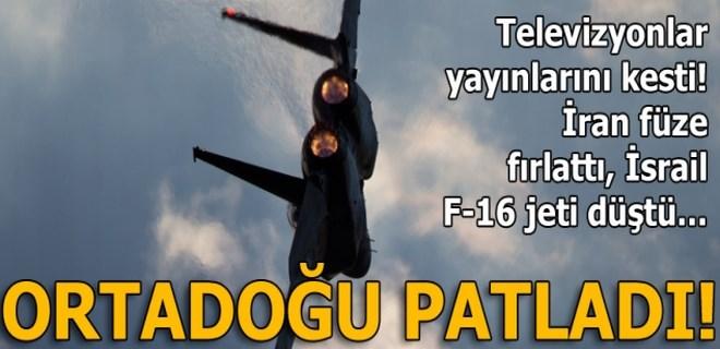 İran insansız hava aracını durduran İsrail'de, F-16 düştü!