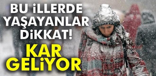Dikkat!.. Meteoroloji kar uyarısı verdi!