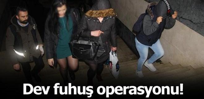 İstanbul'da dev fuhuş operasyonu!