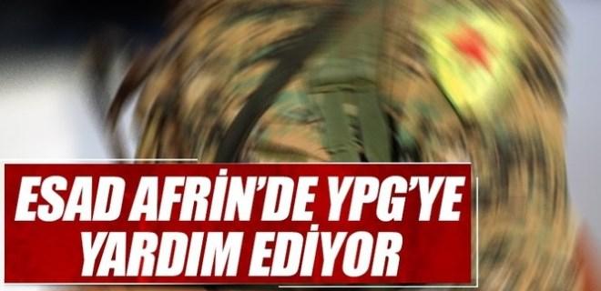 Reuters: 'Esad, Afrin'de YPG'ye yardım ediyor'