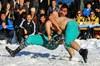 Kar güreşçileri dünya basınında