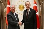 Cumhurbaşkanı Erdoğan'ın Tillerson'ı kabulü sona erdi