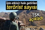 TSK: '1641 terörist etkisiz hale getirildi'