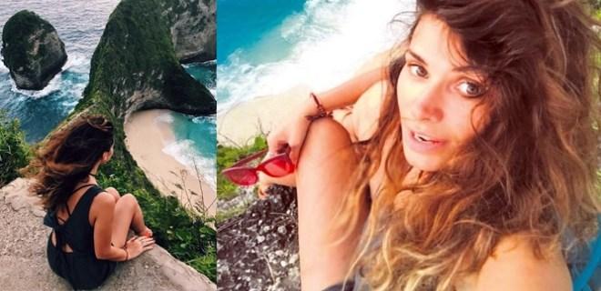 Begüm Birgören selfie uğruna tehlikeyi göze aldı!