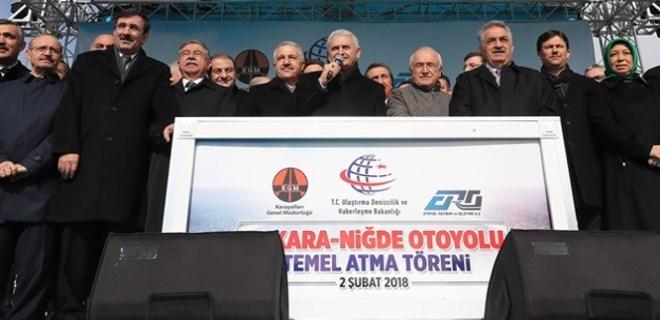 Ankara-Niğde otoyolunun temel atma töreni