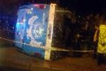 Antalya'da askerleri taşıyan otobüs devrildi
