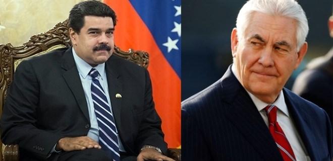 Tillerson, Maduro'yu darbeyle tehdit etti!