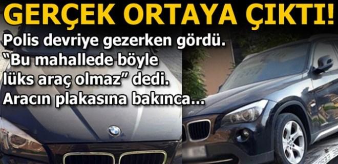 İstanbul'da çalınan lüks otomobil Adana'da bulundu