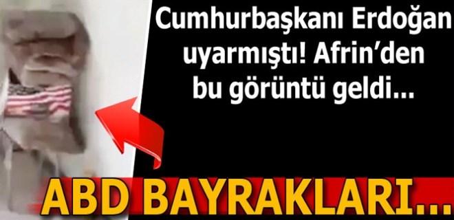 PKK karargahından ABD bayrakları çıktı!