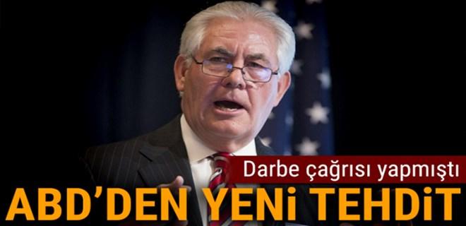 Darbe çağrısı yapan ABD'den yeni tehdit!