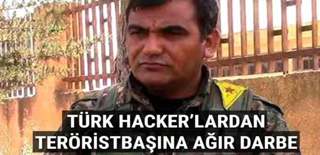 YPG'nin sözde Genel Komutanına Türk bayrağı şoku