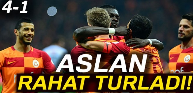 Galatasaray rahat turladı!