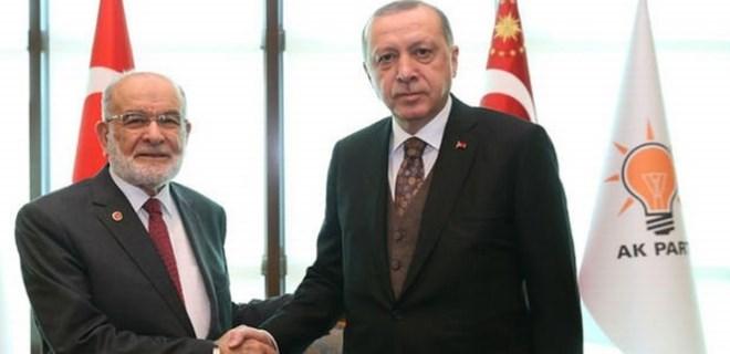 Cumhurbaşkanı Erdoğan, SP lideri Karamollaoğlu ile görüştü