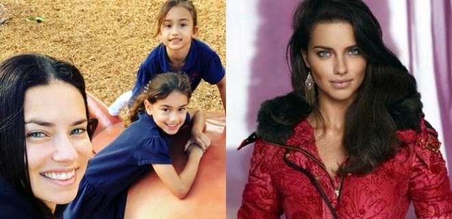 Adriana Lima kızlarıyla poz verdi