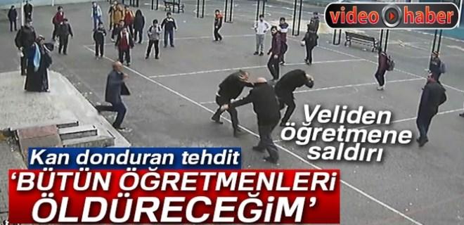 Veliden öğretmene yumruklu saldırı!