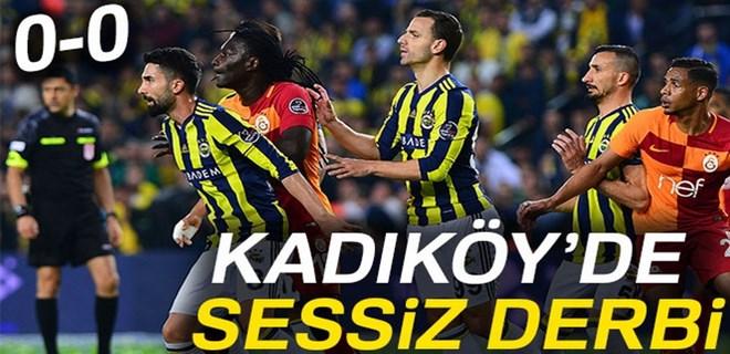 Kadıköy'de sessiz derbi!