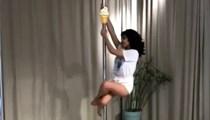 Bahar Candan'dan çok konuşulacak direk dansı videosu