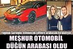 Yağmur Sarıoğlu'nun Lamborghini'si artık düğün arabası!