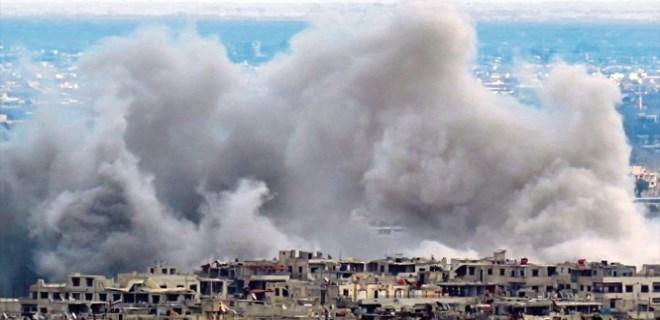 Esad ve destekçilerinden Doğu Guta'yı yarma harekatı!