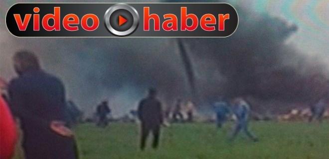 Cezayir'de askeri nakliye uçağı düştü!