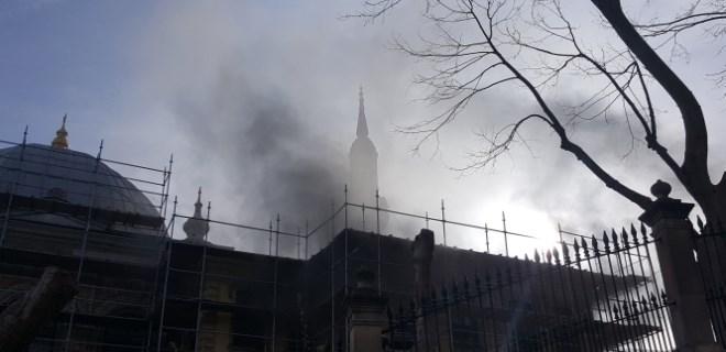 Teşvikiye Camii'nde yangın çıktı!