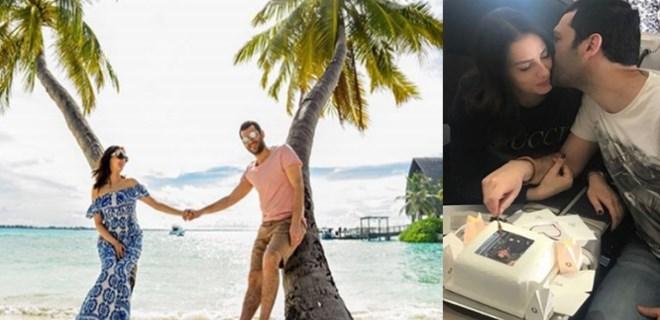 Murat Yıldırım ve eşi Maldivler'de