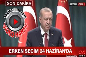 Cumhurbaşkanı Erdoğan erken seçim tarihini resmen açıkladı!