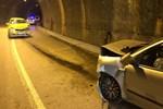 Trafiğe kapalı tünelde kaza!