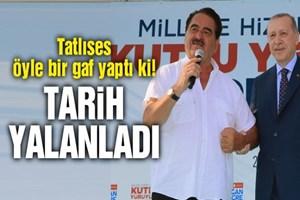 Tatlıses'in Erdoğan anısında uyuşmazlıklar var