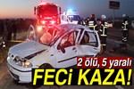 Aksaray'da tomobil takla attı: 2 ölü, 5 yaralı