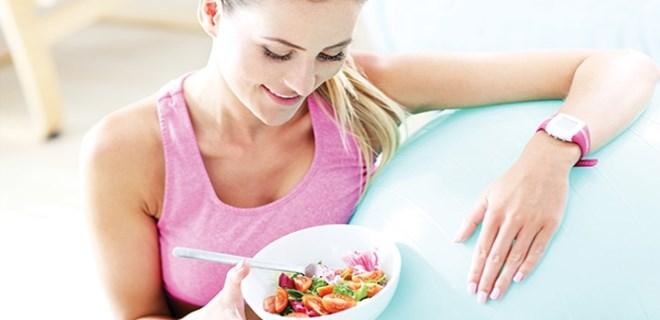 Form tutmak için önce sağlıklı beslenin