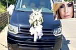 Hadise'nin arabası düğün için süslendi