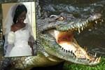 Kolunu timsah kaptı, düğünü iptal etmedi!