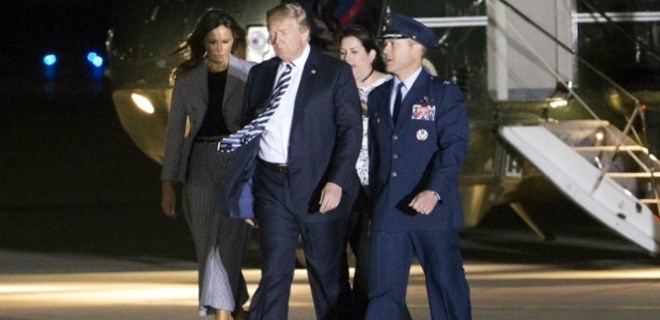Trump mahkumları bizzat karşıladı