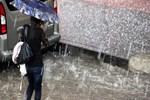 Erzurum'da doluyla karışık sağanak yağış etkili oldu