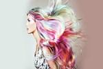 Saçlarda asimetrik katlar doğal dalgalar
