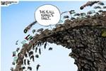 ABD'li karikatüristten alçak karikatür!